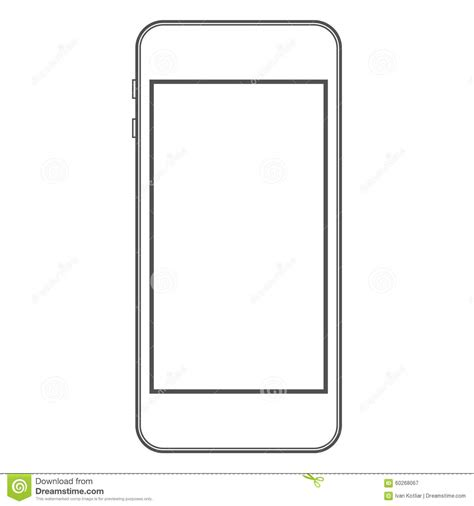 phone template phone template stock vector illustration of iphone illustration 60268067