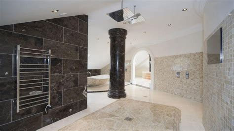 black marble bathroom black  white marble tile