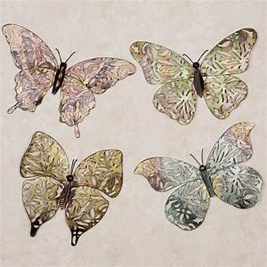 spring butterfly metal wall art set With butterfly wall art