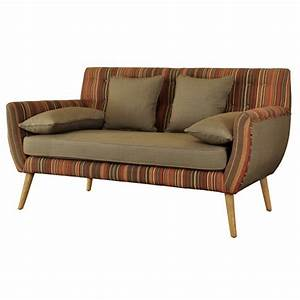 Buy eden den scandinavian retro style striped sofa from for Red and brown sectional sofa