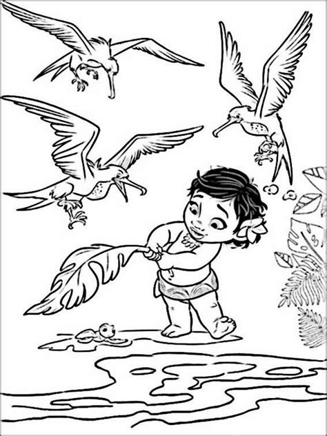 vaiana moana coloring pages  coloring pages  kids