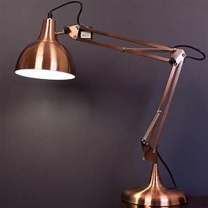 MINI SLY Designer Table Desk Lamp Light COPPER Modern