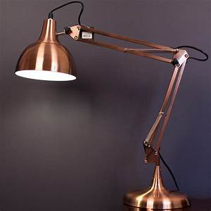 Mini sly designer table desk lamp light copper modern for Amalfi copper floor lamp