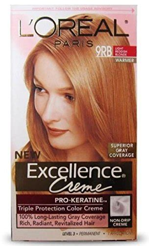 l oreal excellence 9rb light reddish blonde l 39 oreal excellence creme pro keratine triple protection