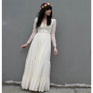 vintage 1970s romantic ivory lace wedding dress star With 1970 wedding dresses