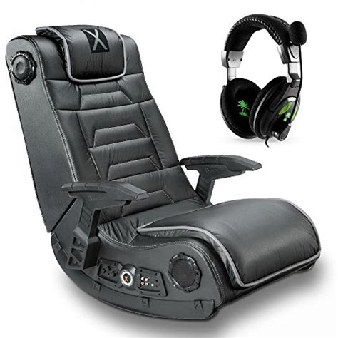 x rocker gaming chair with pro h3 wireless with xbox 360 ear x12