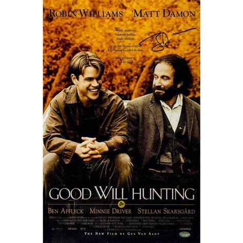 Will (matt damon), chuckie (ben affleck). Ben Affleck 'Good Will Hunting' Signed 11x17 Poster ...