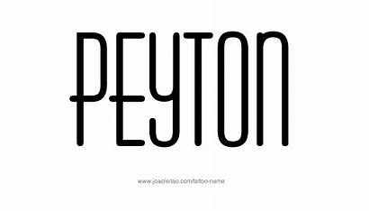 Peyton Tattoo Font Fancy Tattoos Styles Designs