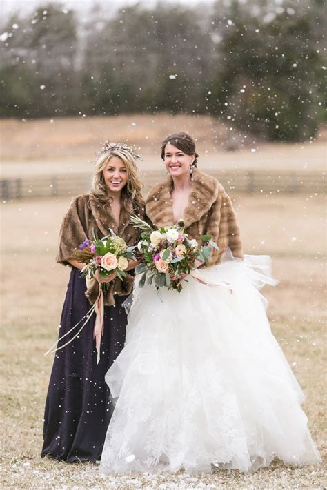 elegant lavender winter wedding inspiration
