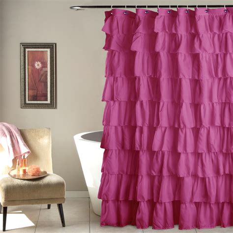 pink ruffle shower curtain pink ruffle shower curtain at home