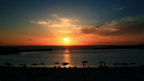 Zeitraffervideo  Gran Canaria Sonnenuntergang Am Strand