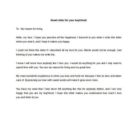sample love letter  boyfriend