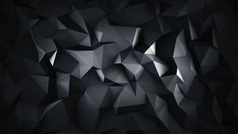 Abstract Black Background Design by Black Low Poly Abstract Background Seamlessly Loopable