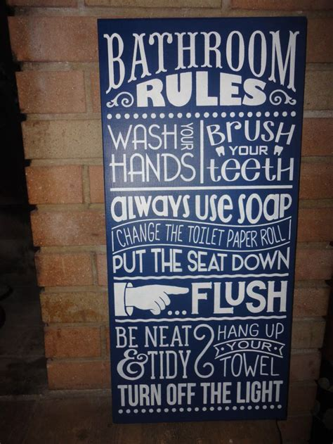 bathroom rules ideas  pinterest signs