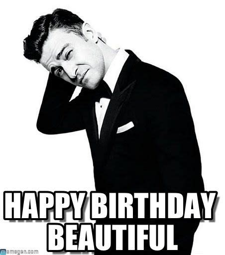 Justin Bieber Happy Birthday Meme - happy birthday beautiful justin timberlake meme sexyfaces pinterest justin timberlake