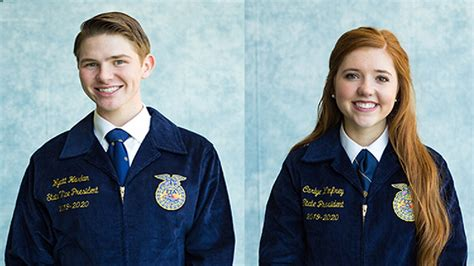 west texas students elected president vice president state ffa