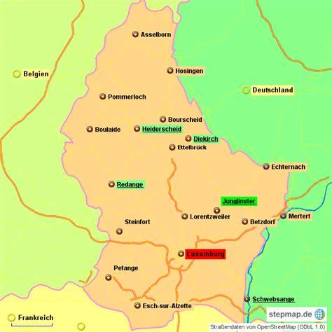 stepmap wohnmobilstellplaetze landkarte fuer luxemburg