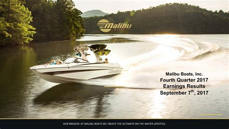 Malibu Boats Dividend by Malibu Boats Inc 2017 Q4 Results Earnings Call