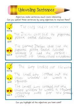 emoji uplevelling sentences   irvines class tpt