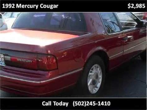 how cars engines work 1992 mercury cougar user handbook 1992 mercury cougar used cars louisville ky youtube