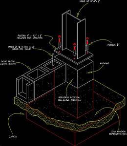 Lighting Gantry Steel Column Anchored To Concrete Footing 42 54 Kb