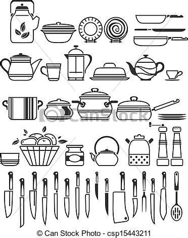 Kitchen tools and utensils. vector illustration.