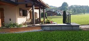emejing amenagement exterieur terrasse ideas design With amenagement exterieur terrain en pente 13 habitat performance construction maisons ossature bois
