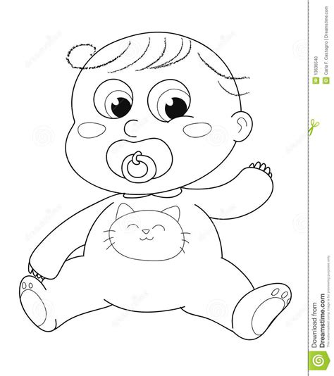 cute baby coloring stock vector illustration of babe