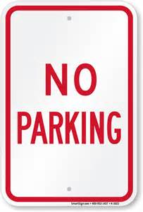 """Bus Parking Only 12"""" x 18"""""""