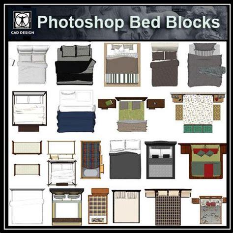 photoshop psd bed blocks  cad design  cad blocks