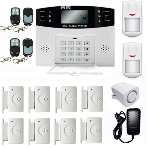 home security system wireless gsm 108 zones wireless wired voice home alarm security