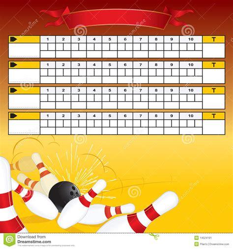 Bowling Scoreboard Stock Image - Image: 14524191