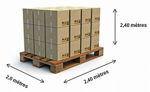 Dimension Palette Europe : transports julien transport en lots complets et en lots ~ Dallasstarsshop.com Idées de Décoration