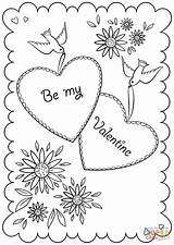 Coloring Pages Card Valentine Valentines Printable St Games Drawing sketch template