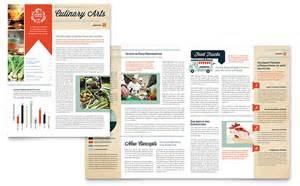 newsletter designer culinary school newsletter template design