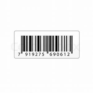 Illustration Of Vector Bar Code Sticker On An Isolated
