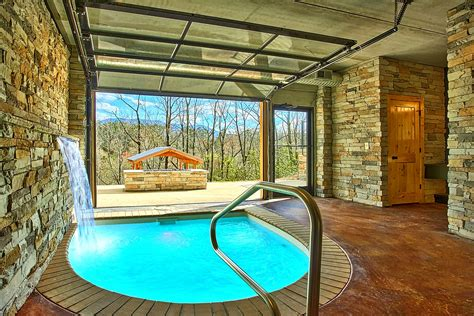 gatlinburg cabins with indoor pool 1 bedroom cabins in gatlinburg tn for rent elk springs