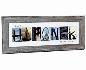 creative letter art personalized framed name sign with With 7 opening picture frame for letter art