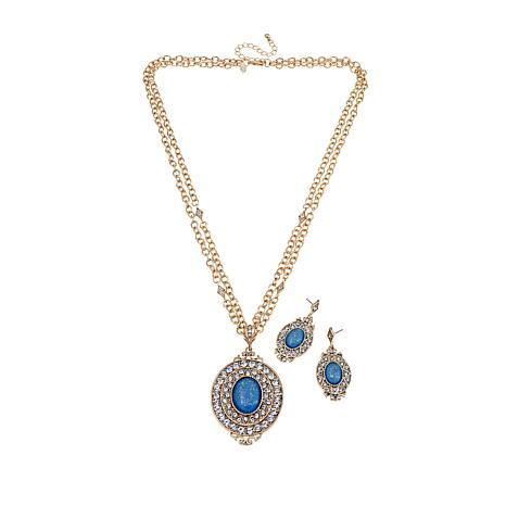real collectibles  adrienne blue opal color stone