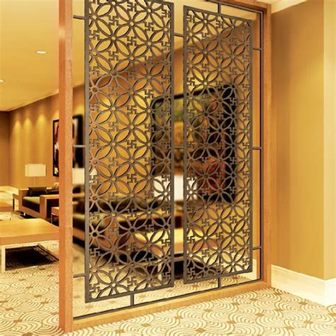 Decorative Partitions - new design laser cut stainless steel metal