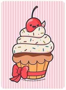 Cute Cupcake by CherryFactory.deviantart.com | Cupcake