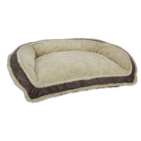 luxury dog bed faux leather deep dish dog bed orvis uk