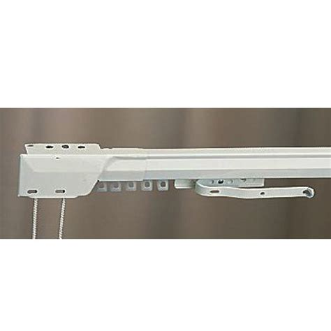 86 quot 150 quot one way draw adjustable traverse curtain rod