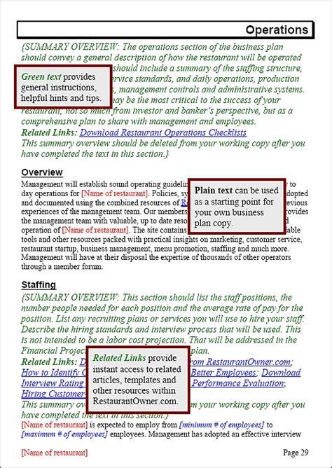 restaurant business plan template small restaurant business plan template free sanjonmotel