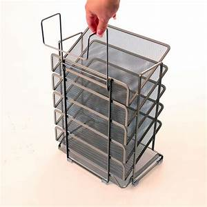 amazoncom seville classics office desk organizer mesh With hanging letter tray