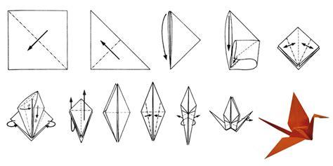 origami kranich anleitung faltanleitung kranich
