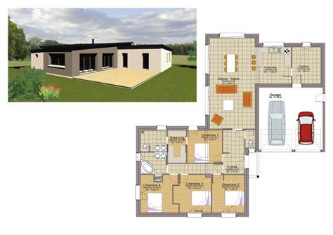 plan maison 3 chambres plain pied garage plan maison plain pied 3 chambres 110m2