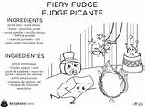 Fudge Coloring Brighter Bites Fiery Sheet Outlooks Choices sketch template