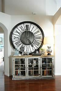 Grande Horloge Industrielle : l 39 horloge murale id es en photos pour d corez vos murs ~ Teatrodelosmanantiales.com Idées de Décoration