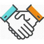 Trust Business Icon Collaboration Greeting Teamwork Deal